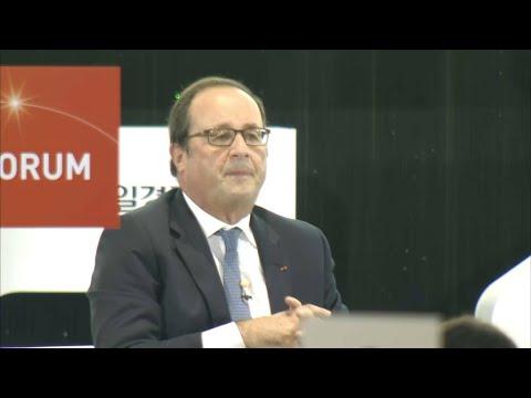 François Hollande donne sa première conférence d'ex-président en Corée du sud