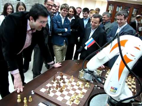 Chess Robot vs World Chess Champion XIV GM Kramnik
