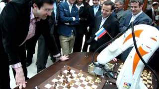 Chess Robot vs Vladimir Kramnik (Chess World Champion XIV)(This party was held at the Chess House V.Ya.Dvorkovicha them. It was the first semi-serious party at the highest level between the robots that remove the actual ..., 2010-12-29T13:38:27.000Z)