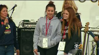 2 Students From Parkland Speak Out At LA Rally