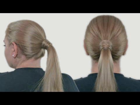 Как завязать хвост своими волосами