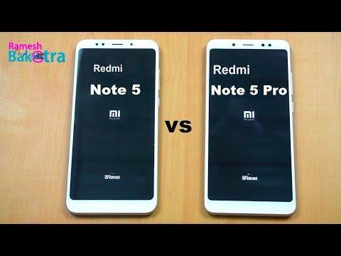 Redmi Note 5 Pro Vs Note 5 Speed Test And Camera Compare