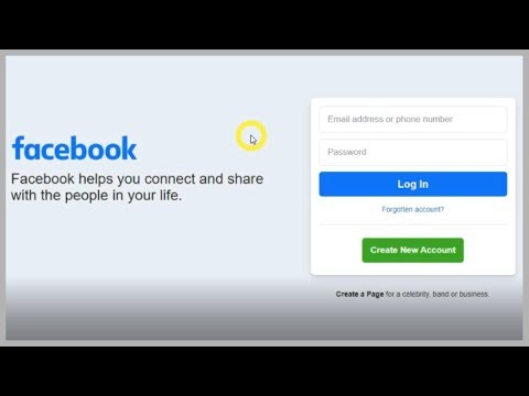 (Facebook) - New Login Page 2020 Update New Login Interface