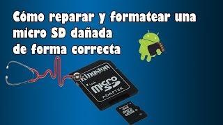 Cómo reparar y formatear una micro SD dañada de forma correcta (Español)