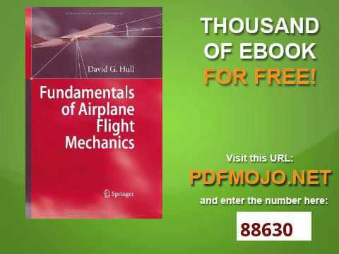 fundamentals of airplane flight mechanics hull david g