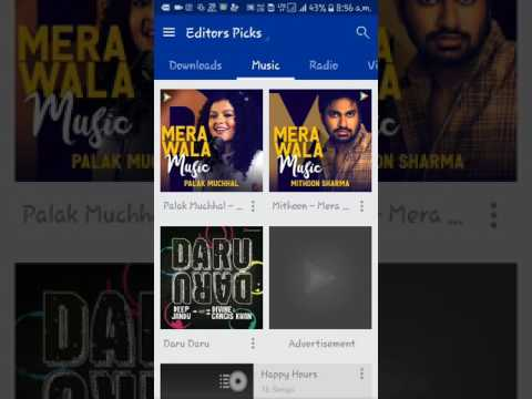 How to delete downloaded or cached songs from hungama app in HINDI