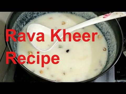 Rava kheer recipe in Tamil | How to make Rava kheer recipe