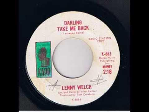 Lenny Welch - Darling take me back - Kapp 662 Promo copy