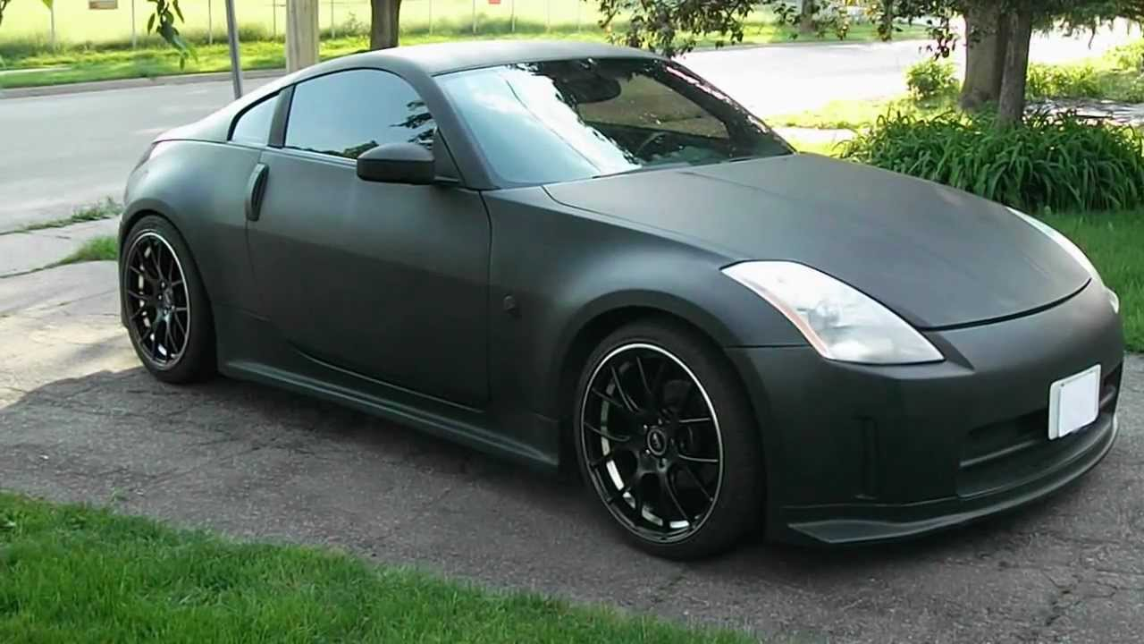 1 Sick Flat Matte Black Nissan 350z Old Paint Job S