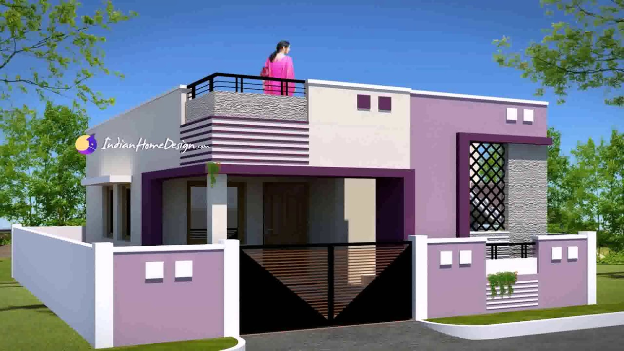2 Bedroom Modern House Plans Indian Style Youtube