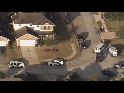 RAW VIDEO: Aerial view of after Tomball woman shot