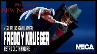 NECA Toys Wes Craven's New Nightmare Retro Cloth Freddy Krueger Figure Review