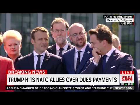 Trump trashes NATO members standing feet away for not meeting defense obligations