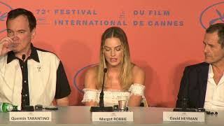 """Once Upon A Time In Hollywood PRESS CONFERENCE  Margot Robbie – """"Sharon Tate"""""""