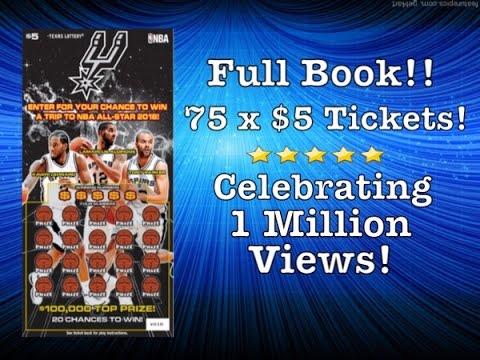 $375 Full Book!! $5 San Antonio Spurs | 1 Million Views Celebration!