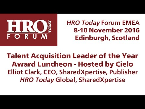 HRO Today Forum EMEA 2016: Talent Acquisition Leader of the Year Award Luncheon