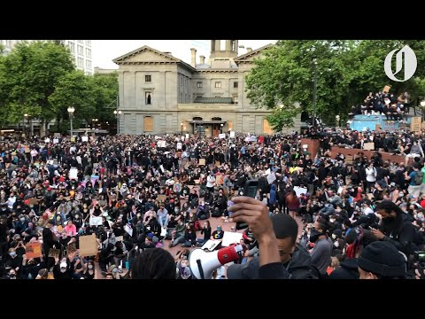 Thousands gather at Portland's Pioneer Square for 6th day of George Floyd protests