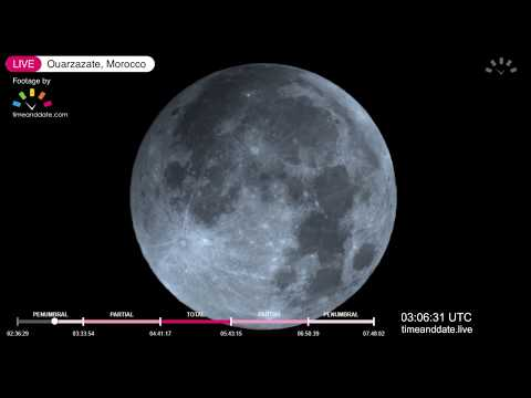 January 2019 Total Lunar Eclipse Live
