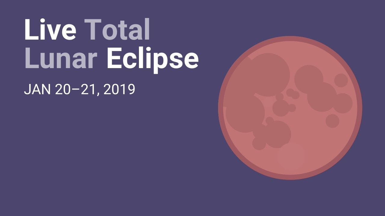 January 2019 Total Lunar Eclipse Live Youtube