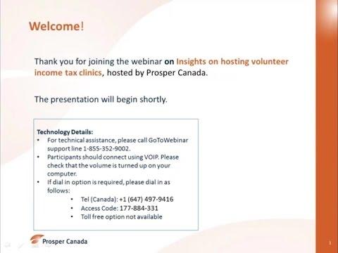 Webinar: Insights on hosting volunteer income tax clinics