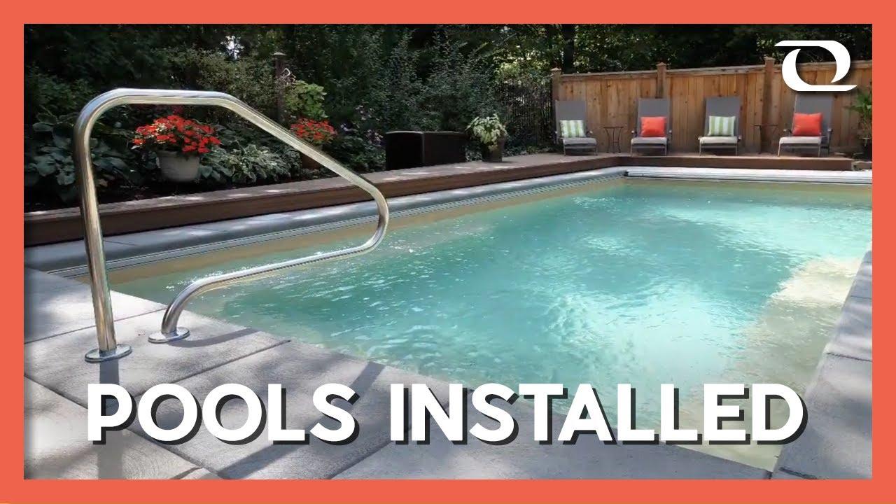 Fiberglass Pools installed