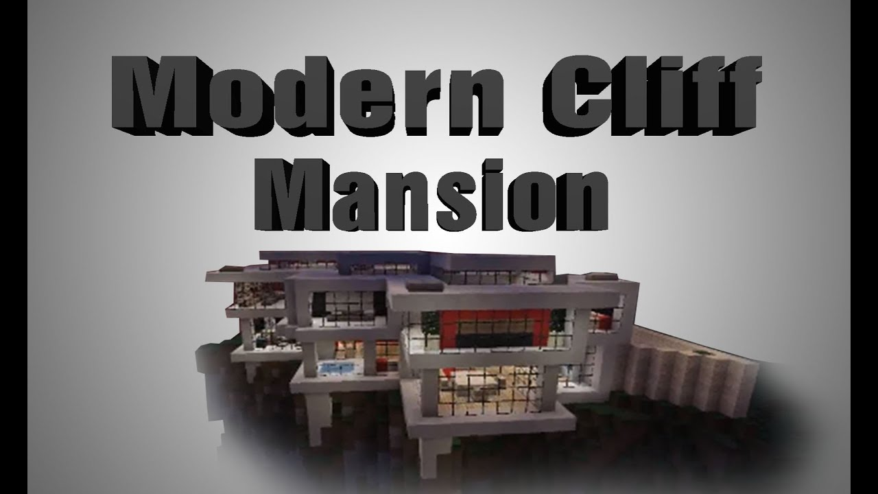 Modern Minecraft Cliffside Mansion TIMELAPSE YouTube