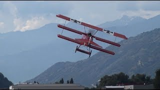 Gernot Bruckmann in RARON with his RED BARON FOKKER DR.1 RC MODEL A...