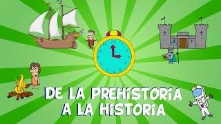 De la prehistoria a la historia,  las edades del hombre. Vídeos educativos para niños