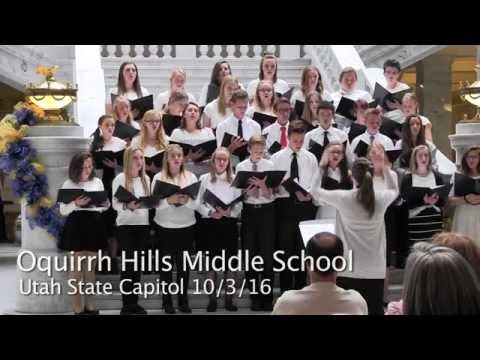 Oquirrh Hills Middle School Musicians at the Utah State Capitol