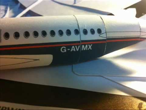 British Airways Bac One Eleven Paper Model Youtube