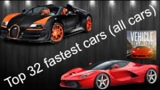 ALL CARS SLOWEST TO THE FASTEST IN VEHICLE SIMULATOR (rent) | Roblox Vehicle Simulator #2