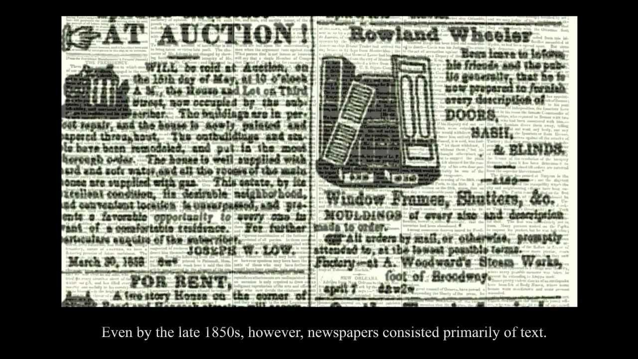American Newspapers, 1800-1860: An Introduction – History