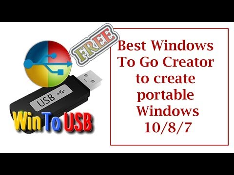 WinToUSB || Creating a portable Windows to run from any Removable ...