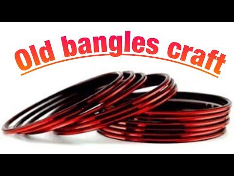 craft using old bangles / reuse old bangles : waste old bangles craft idea easy