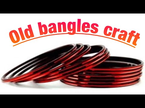 Old bangles craft- waste material craft idea : how to reuse old bangles #bestoutofwaste