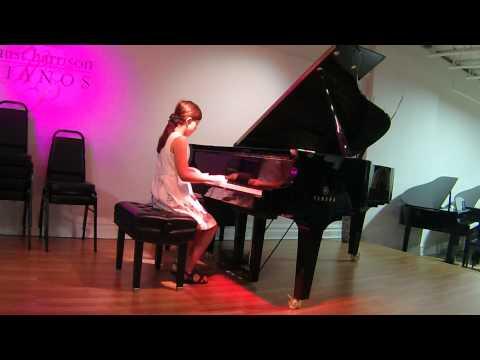 Victoria, age 9, plays Handel: Rigaudon