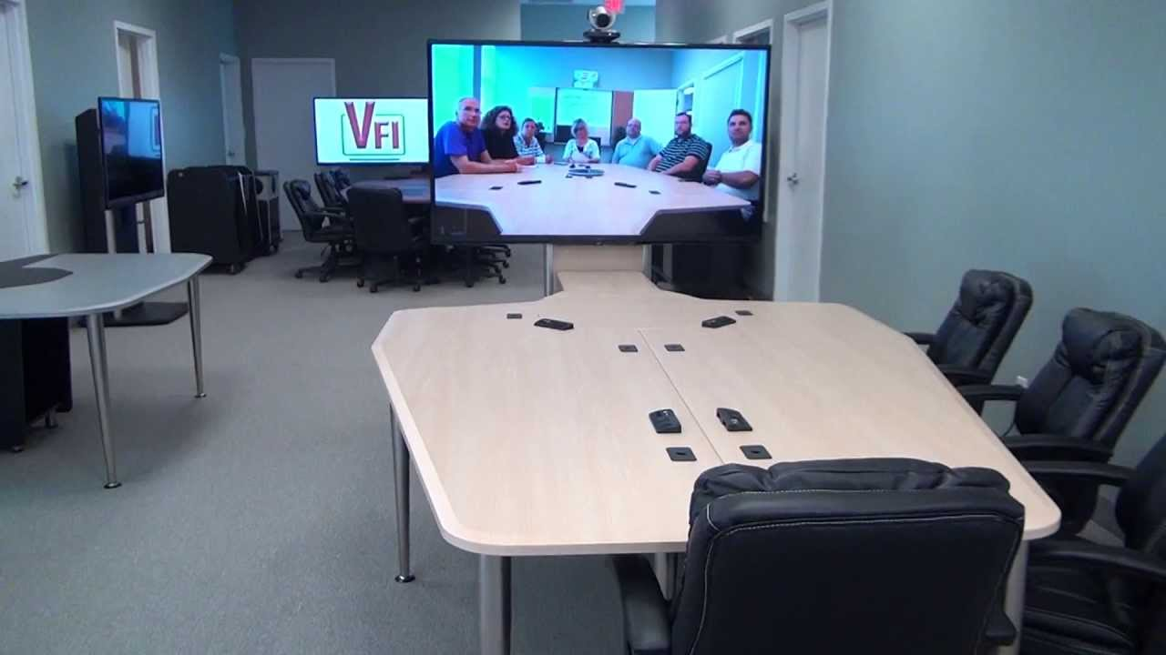 Video Conference Table VCTABLE YouTube - Conference table cubby