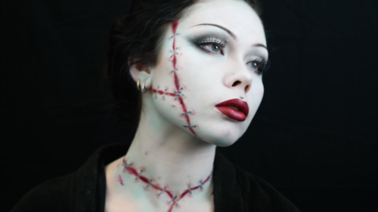BRIDE OF FRANKENSTEIN -- HALLOWEEN COSTUME MAKEUP TUTORIAL ...