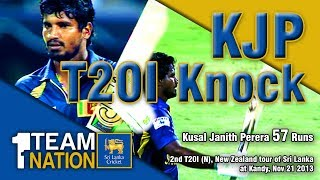 Kusal Janith Perera 57 runs vs NZ in Pallekele - New Zealand tour of Sri Lanka 2013, 2nd T20I