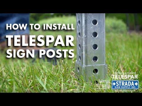 Telespar Sign Post Installation