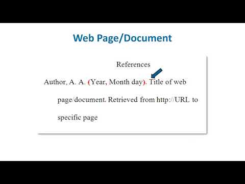 APA Style Reference List  How to Reference Websites