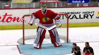NHL 14 Gameplay - Blackhawks vs Red Wings!