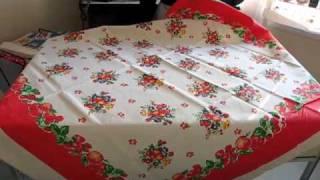 "Vintage Tablecloth ""vintage Apples"" - Retro Redheads"