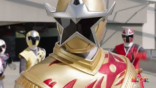 Power Rangers Super Ninja Steel - Gold Ranger Superstar Mode vs Tynamon | Episode 17 Happy to Be Me