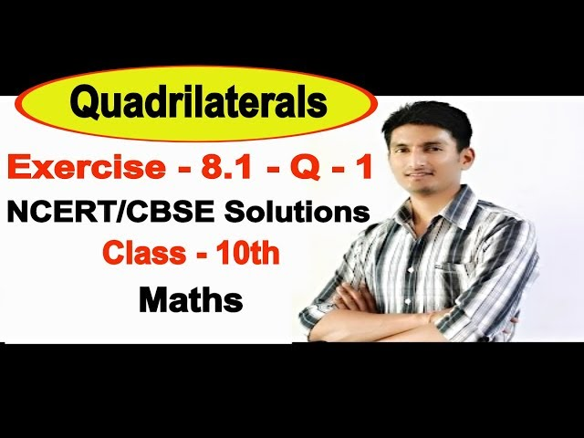 Chapter 8 Exercise 8.1 Question 1 - Quadrilaterals Class 9 Maths - NCERT Solutions