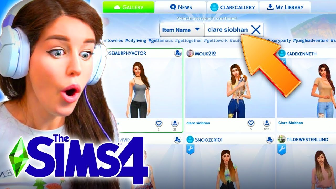 So I searched for myself on the Sims 4 Gallery... thumbnail