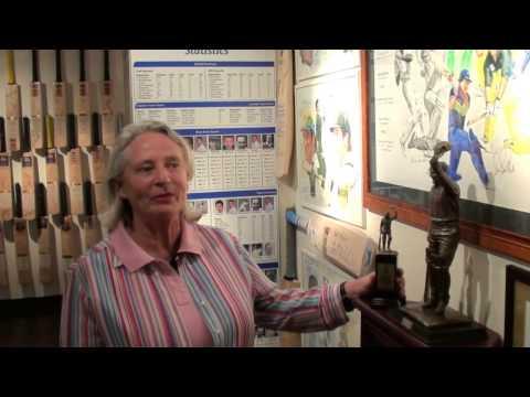 Shyam Bhatia's Cricket Museum Visit Rina Hore Executive Director  Bradman Foundation