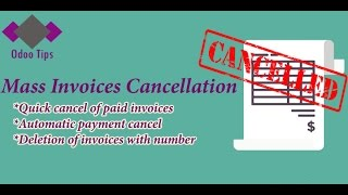"""Module:""""Mass invoices cancel"""" in Odoo 10"""
