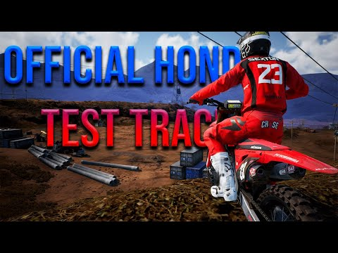RIDING AT THE HONDA TEST TRACK - SUPERCROSS THE VIDEO GAME 3 - FIRT PERSON VIEW