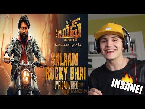 KGF Kannada Movie | Salaam Rocky Bhai Song | REACTION